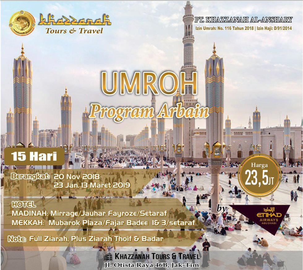 Travel Khazzanah Tour Umroh Arbain