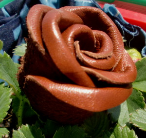 How to make 3d leather flowers for jewelry and accessories the the frilly effect can be obtained if you use really thin leather the martha stewart site has a great tutorial including a video on how to make these pretty mightylinksfo