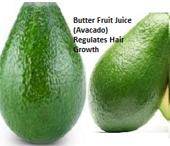 Butter Fruit Juice (Avocado) Regulates Hair Growth: