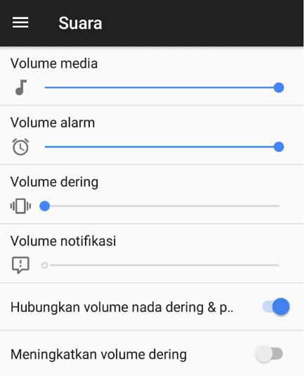 Pengaturan Audio Sistem
