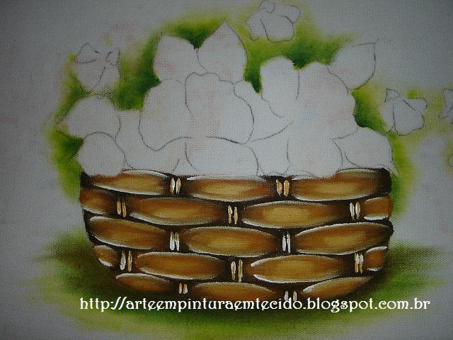 cesta passo a passo pintura em tecido