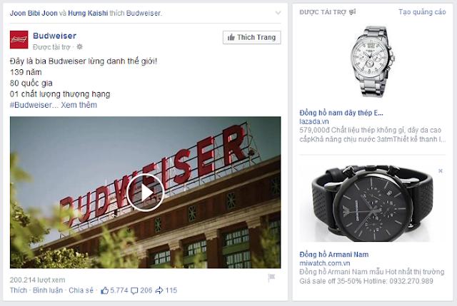 Quảng cáo facebook ads được tài trợ