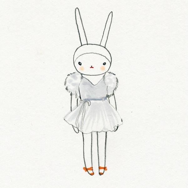 Fifi Lapin: Fifi in the floaty mini dress and orange