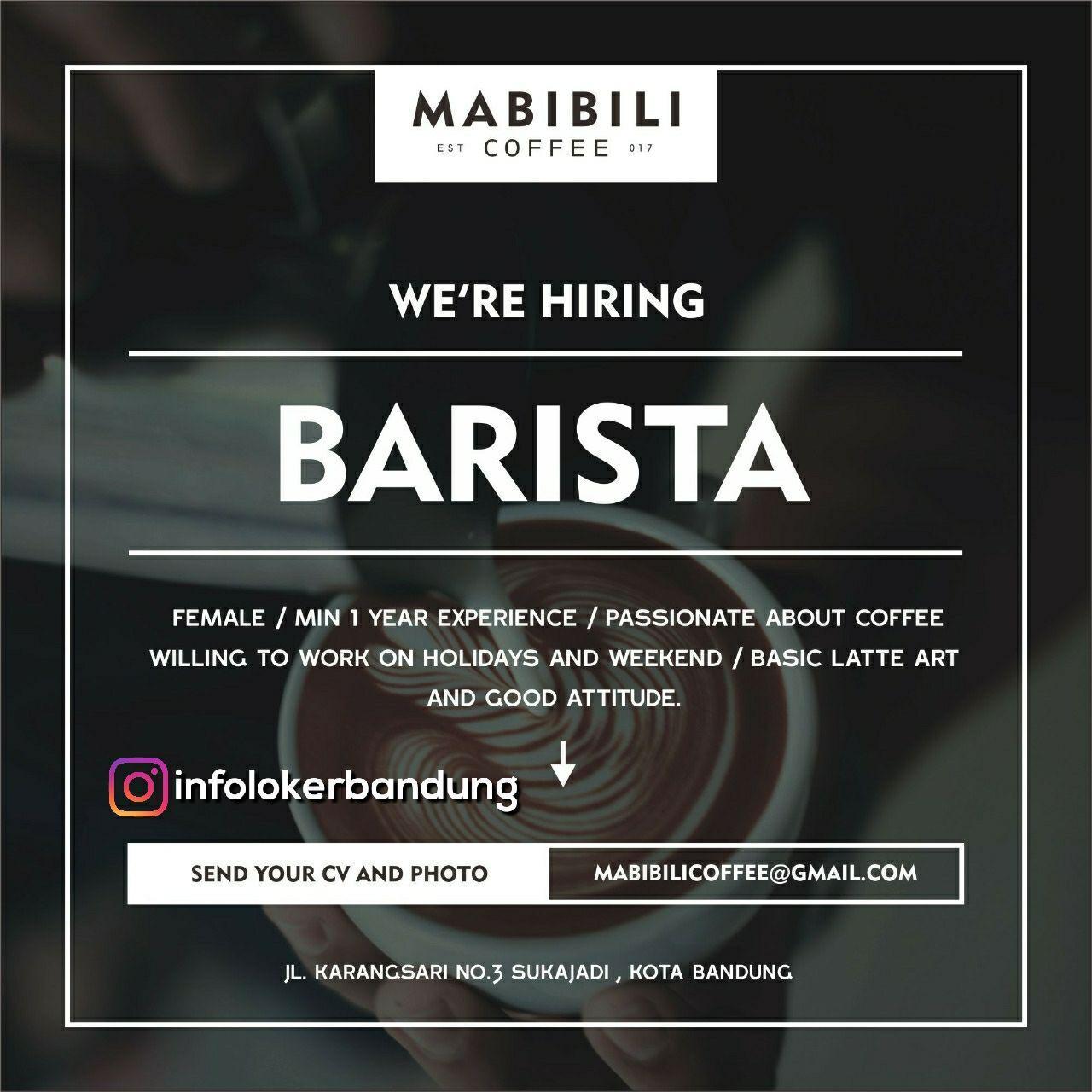 Lowongan kerja Mabibili Coffee Bandung Januari 2018