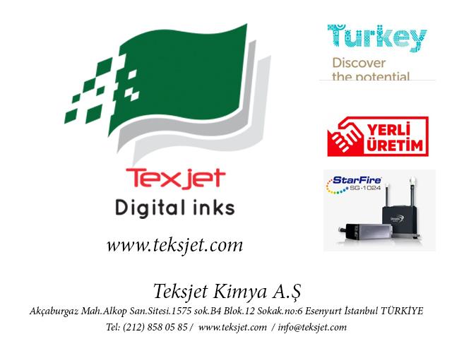 Dimatix Starfire için Dijital Inkjet Tekstil Boyaları Türkiye'de üretiliyor...