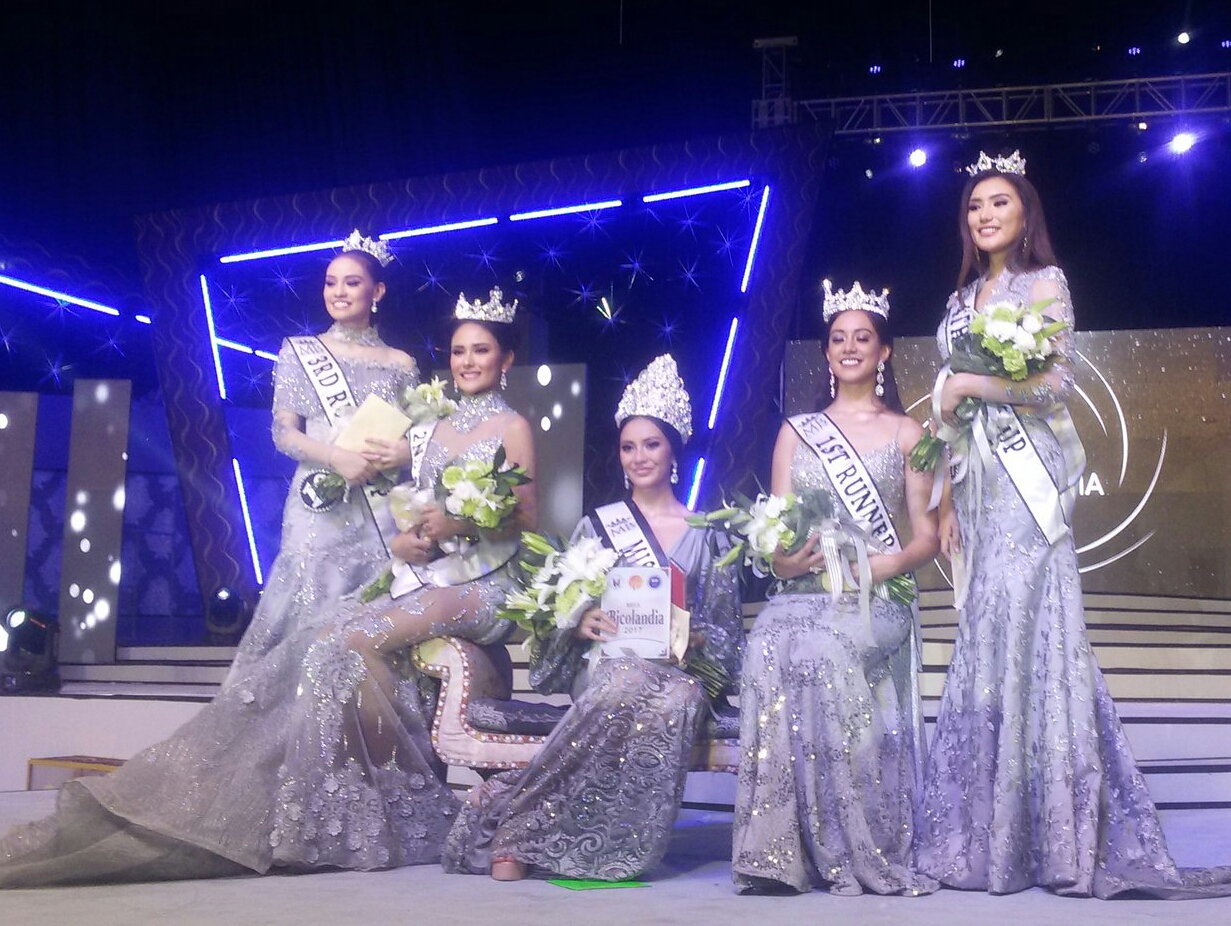Miss Bicolandia 2017 winners