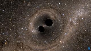 فيديو لأضخم حدث كوني : اندماج ثقبين أسودين يولد طاقة رهيبة