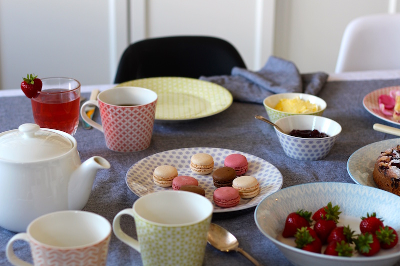 Royal Doulton Pastels collection | sour cherry and almond cake recipe