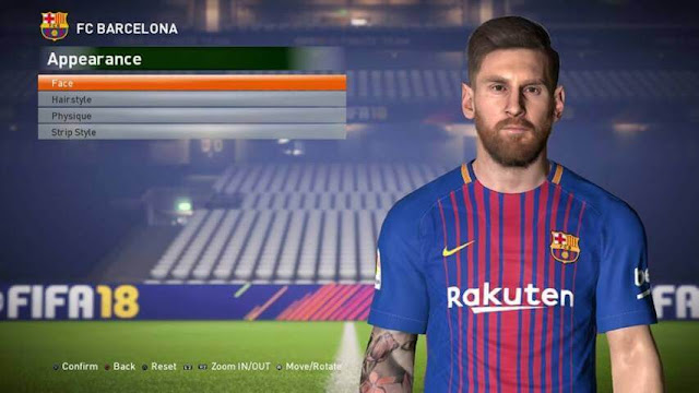 Lionel Messi Face PES 2017