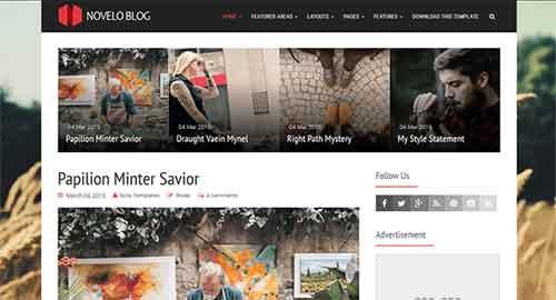 Novelo Blog Blogger Template
