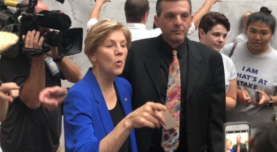 Liz Warren Supports Protesters Who Interrupted Kavanaugh Hearing, Wants Them To Stay ...
