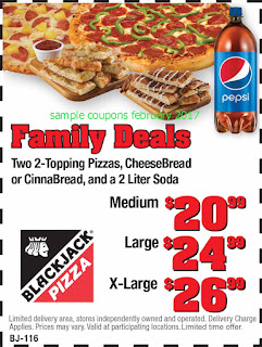 free Black Jack Pizza coupons for february 2017