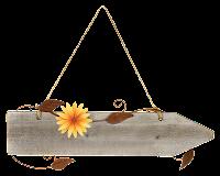 Placa com flor