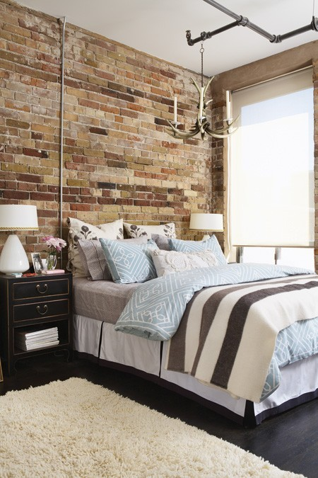 astounding bedroom brick wall | Exposed Brick Decor - The Cottage Market
