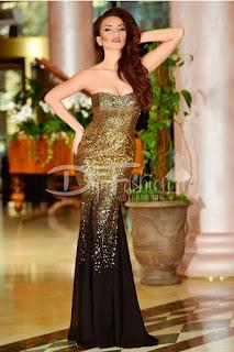 Rochie Magnificent Black Gold