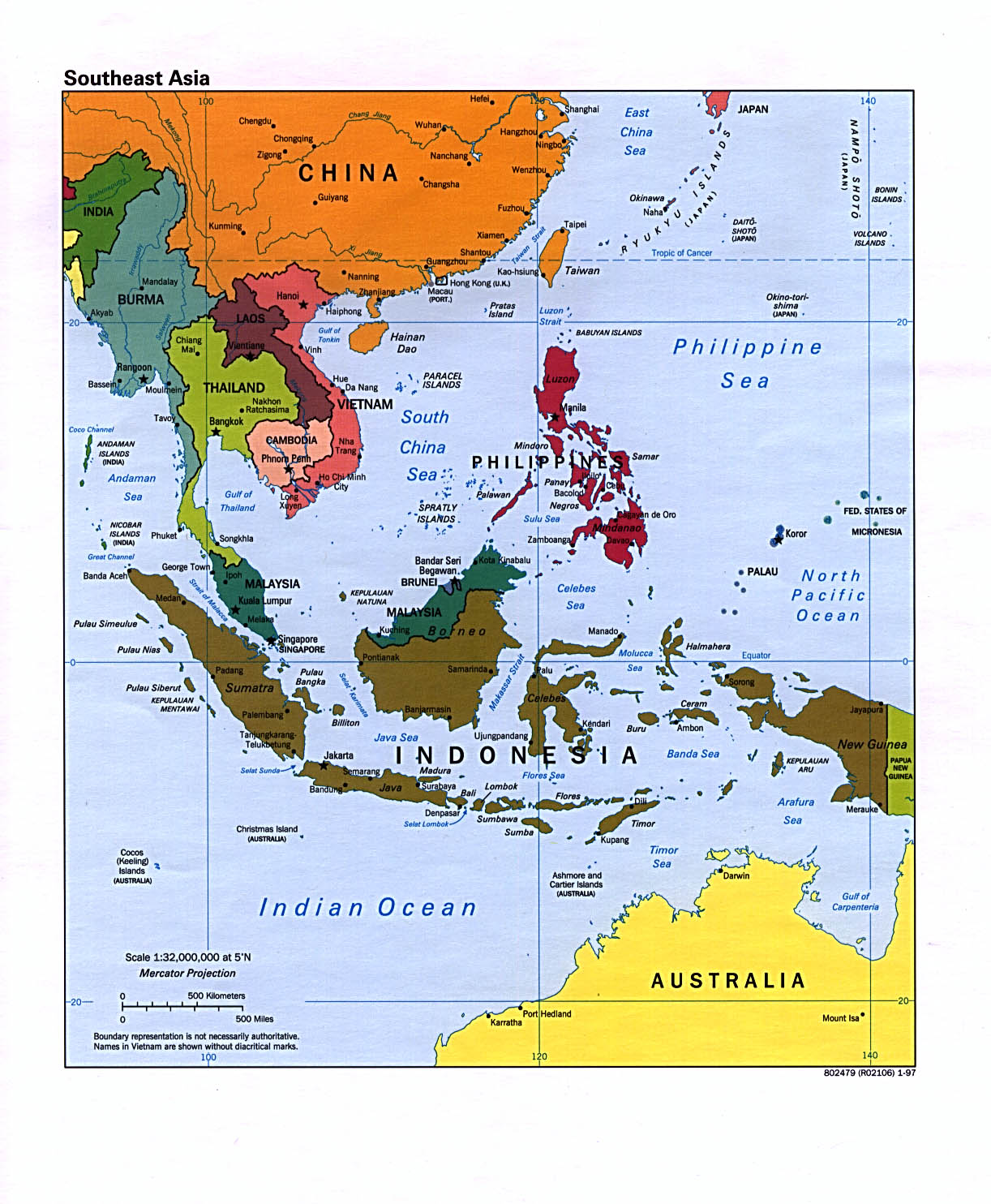 Map Of South East Asian 112
