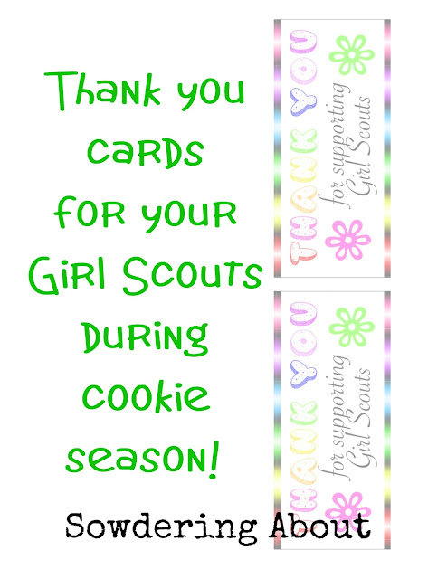 sowdering about girl scout