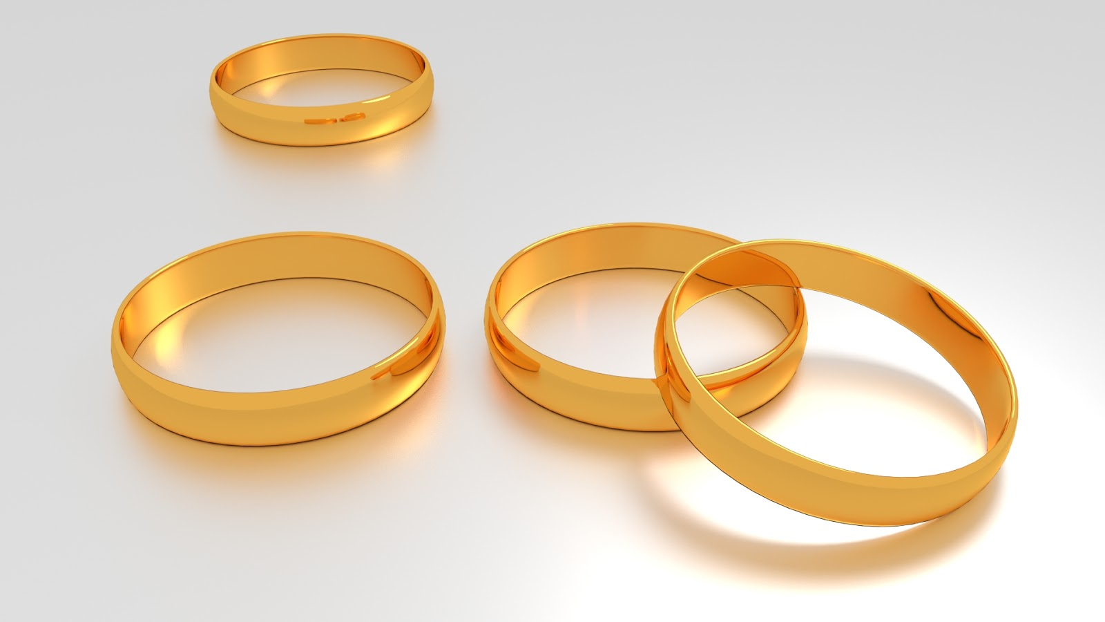 Free 3D Wedding Rings .blend