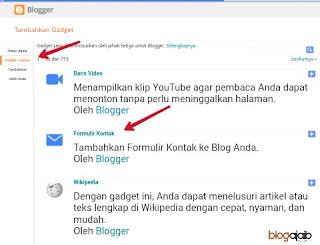 Widget formulir kontak blogger