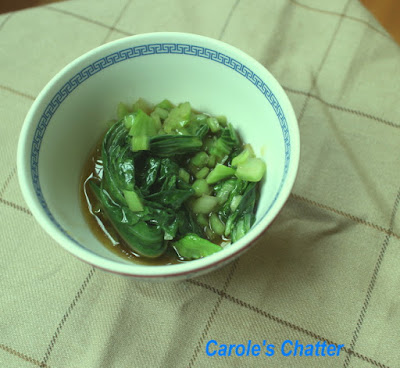 Carole's Chatter: Slightly More Authentic Bok Choy