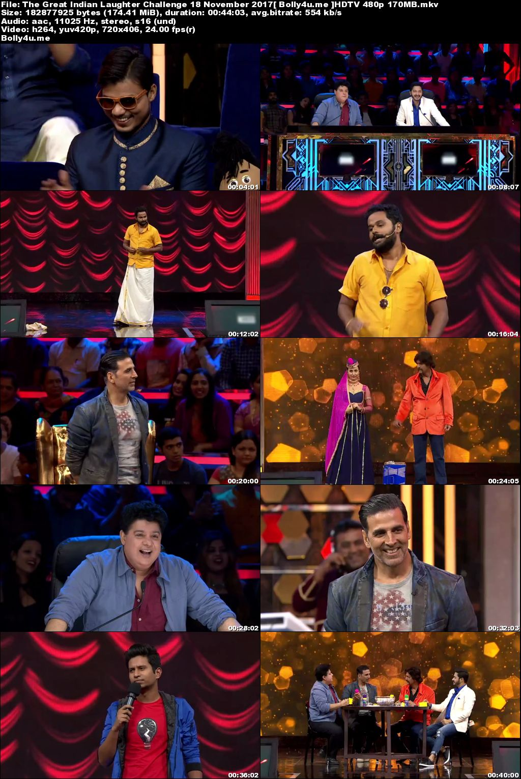 The Great Indian Laughter Challenge HDTV 480p 170MB 18 November 2017 Download