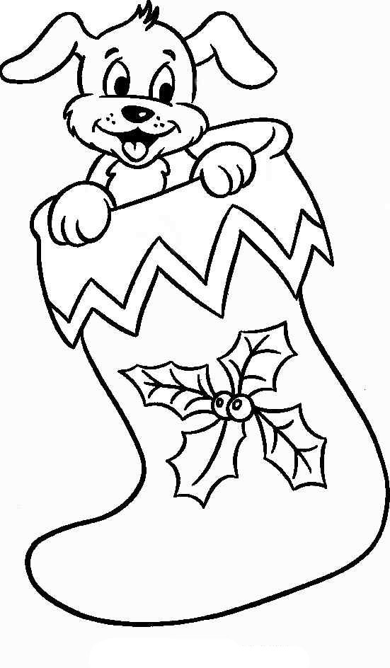 Www christmas coloring pages ~ Christmas Stocking Coloring Pages