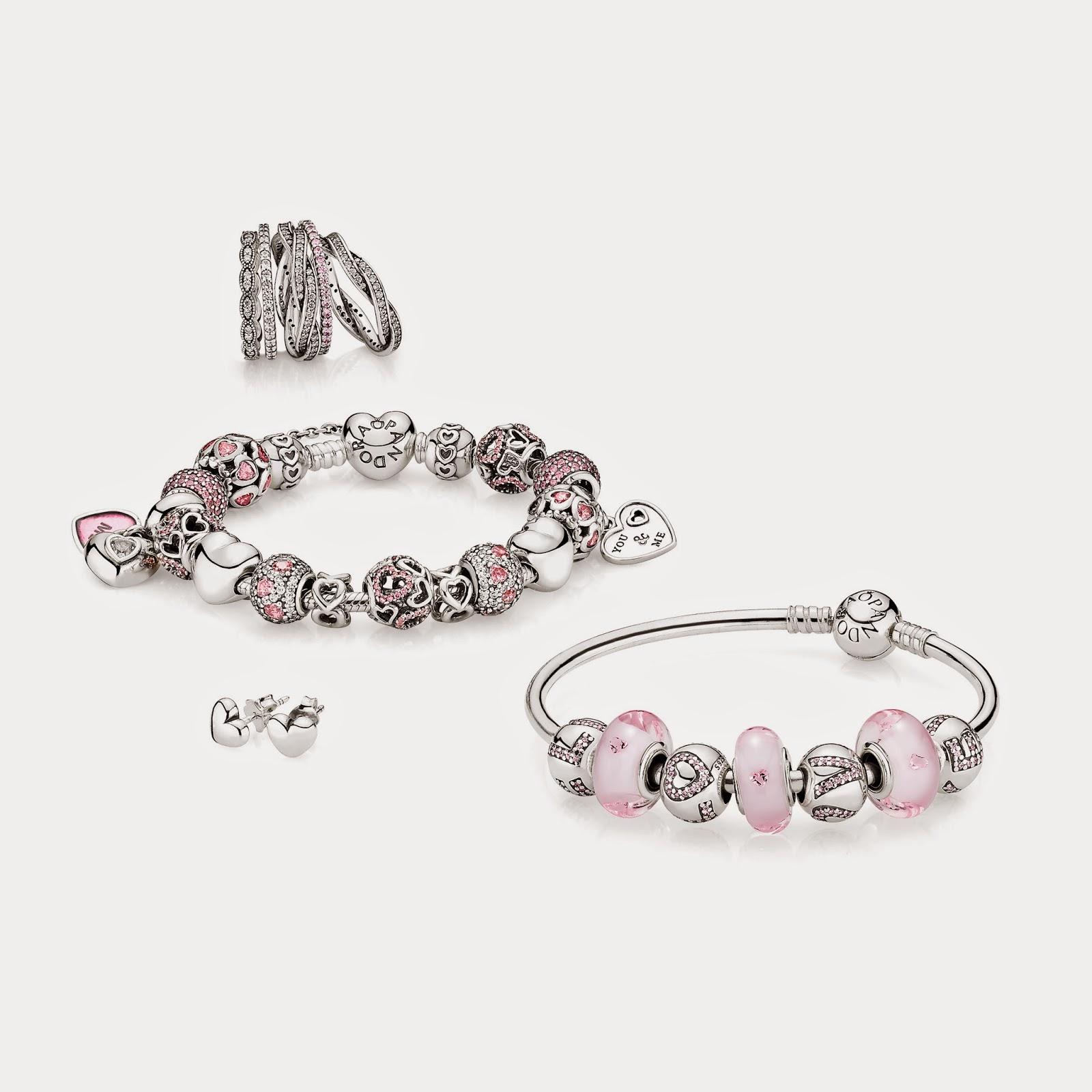 bracelet pandora rose et blanc