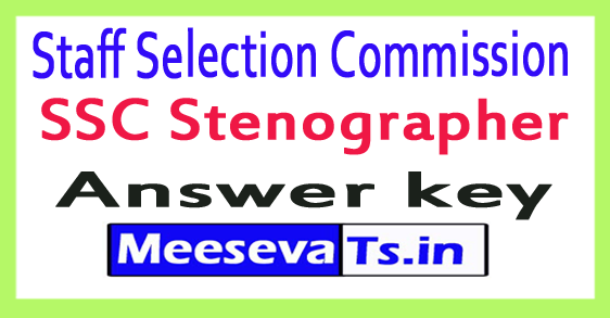 Staff Selection Commission SSC Stenographer Answer Key 2017