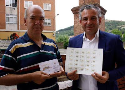 Presentación del sello dedicado a la vuelta ciclista, etapa Cistierna - Oviedo