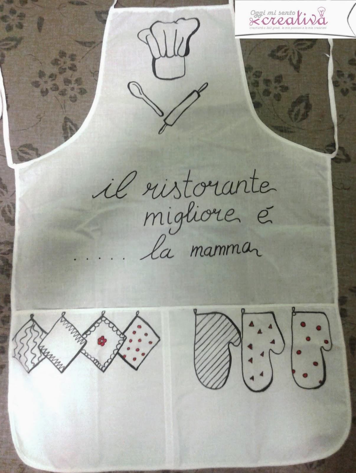 Oggi mi sento creativa grembiuli dipinti idea regalo fai da te - Grembiuli da cucina fai da te ...