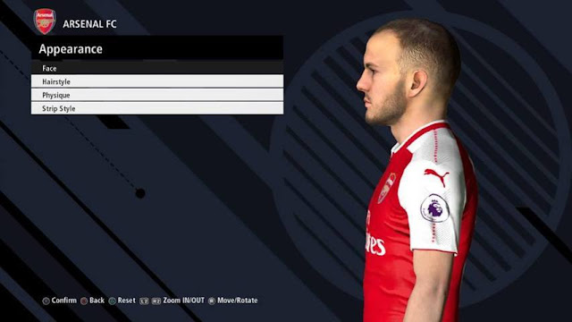 Jack Wilshere Face PES 2017