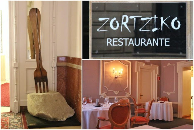 Entrada y comedor en el Restaurante Zortziko en Bilbao