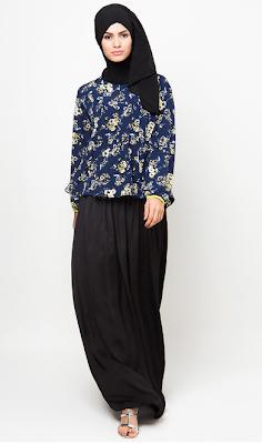 Model Busana Muslim Batik Modern Terpopuler