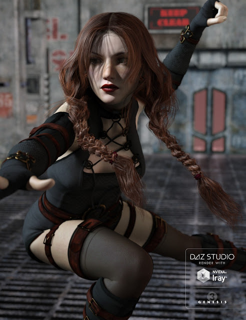 Double Trouble Braids for Genesis 3 Female