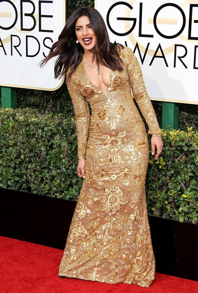 Priyanka Chopra In Yellow Dress At Grammy Celebrations