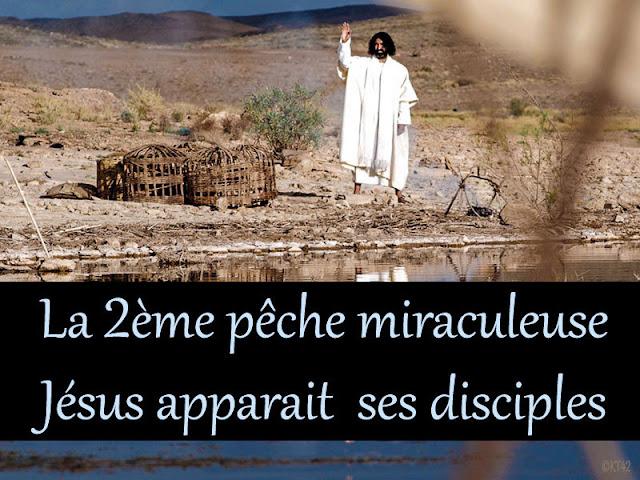Jésus apparaît au bord du lac (pêche miraculeuse 2)