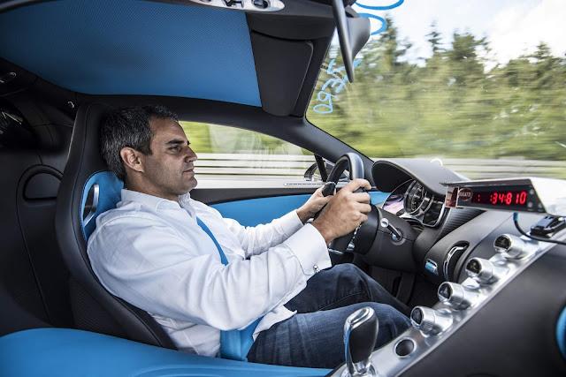 Bugatti Chiron: 0-400-0 Km/h em 42 s - recorde mundial