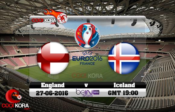 مشاهدة مباراة إنجلترا وآيسلندا اليوم 27-6-2016 بي أن ماكس يورو 2016