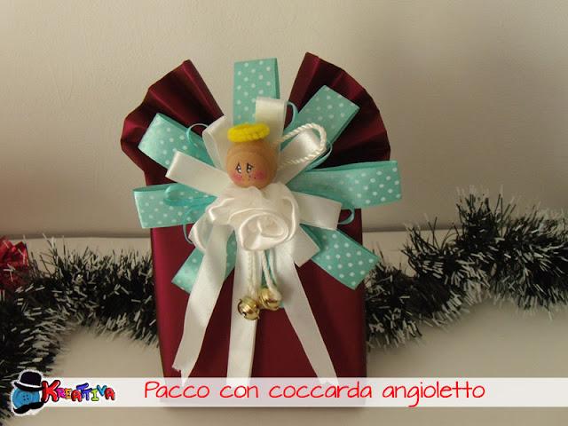 Confezioni regalo handmade con coccarda angelo
