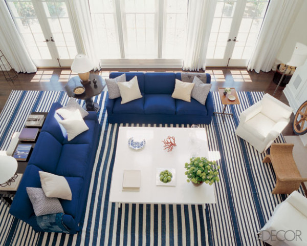 Lunch Amp Latte Styling Blue And White Striped Rugs