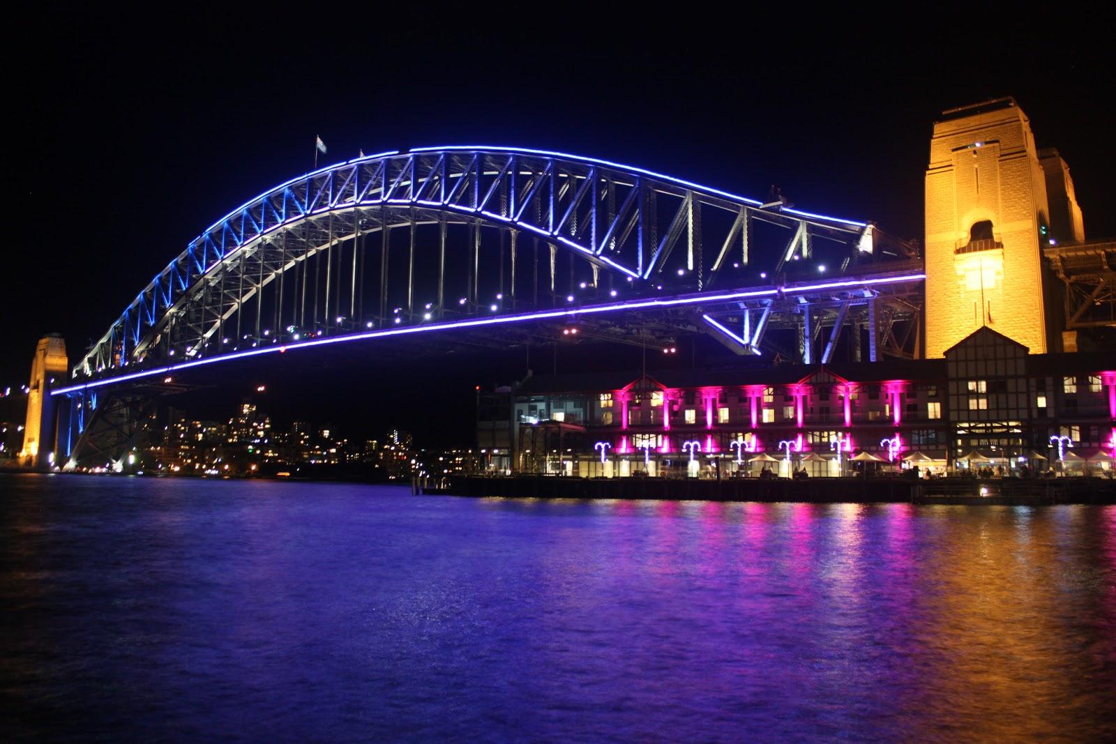 Sydney City And Suburbs Sydney Harbour Bridge Vivid