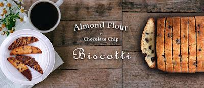 Almond Flour Chocolate Chip Biscotti