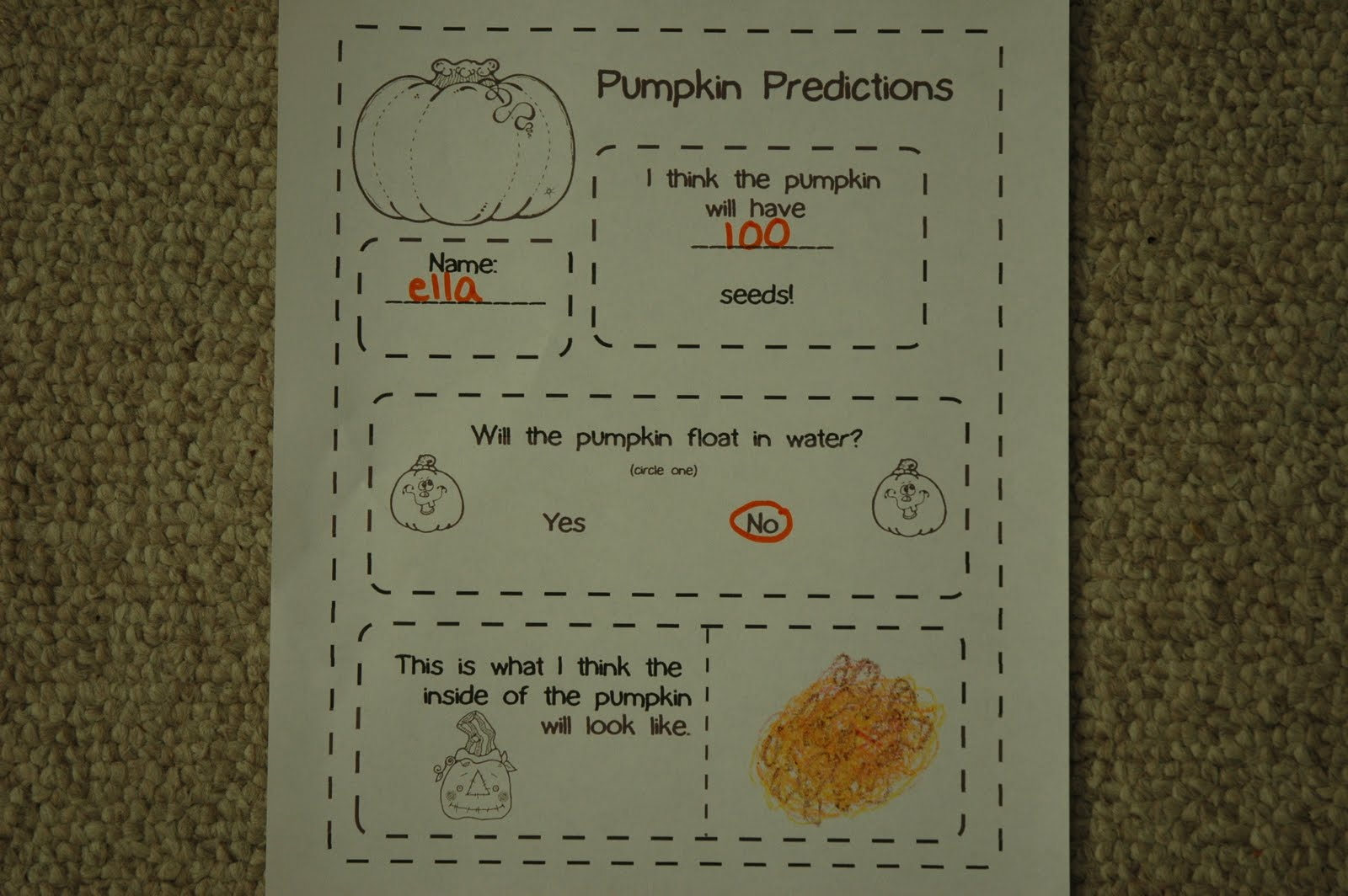 This And That Pumpkin Predictions