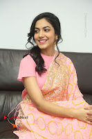 Actress Ritu Varma Pos in Beautiful Pink Anarkali Dress at at Keshava Movie Interview .COM 0303.JPG