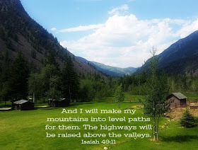 devotional about God making a way for us in the mountains and valleys
