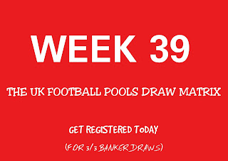 This week football pools draw matrix