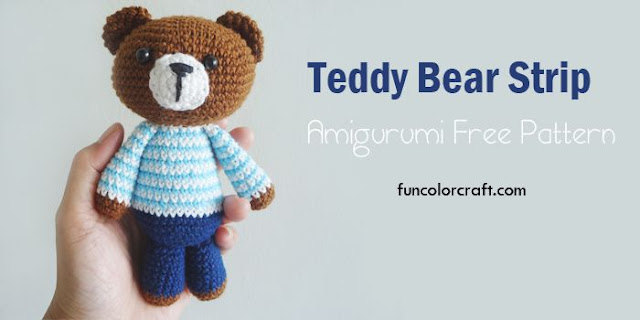 Teddy Bear Strip Amigurumi Free Pattern
