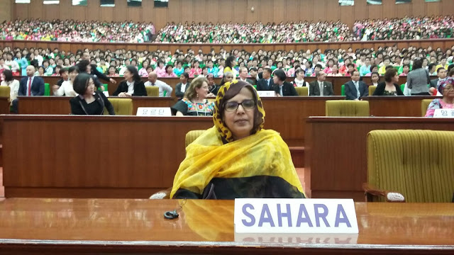 الجمهورية الصحراوية تشارك في إجتماع الفيدرالية الديمقراطية العالمية للنساء بكوريا الشمالية