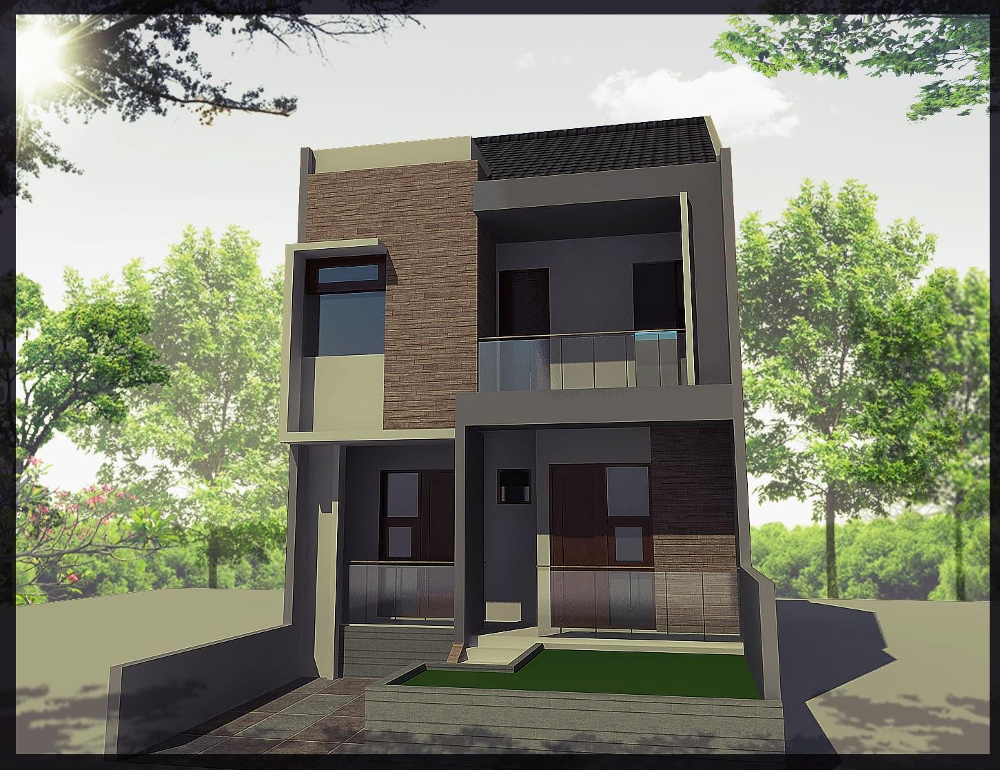 Denah dan Desain Rumah Tingkat Minimalis Terbaru 2014  Desain Rumah Minimalis Terbaik