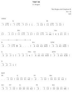 piano sheet that xx korean song